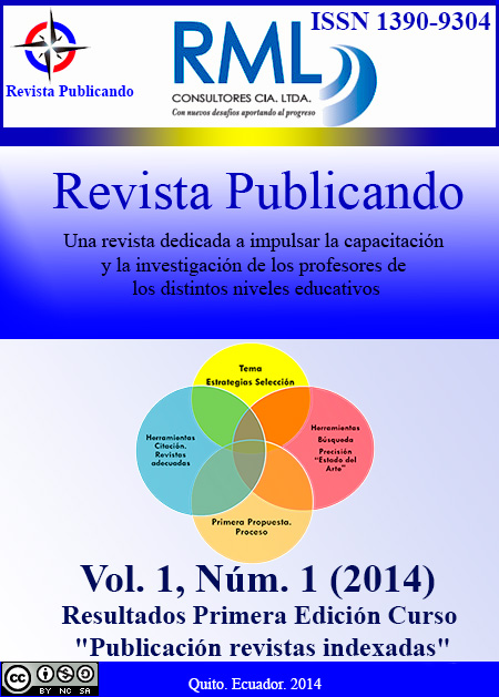 Revista Publicando Vol 1. No 1