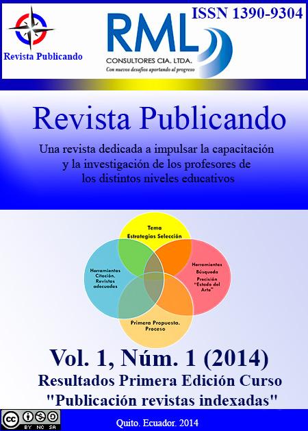 Revista Publicando Vol 1. No 1
