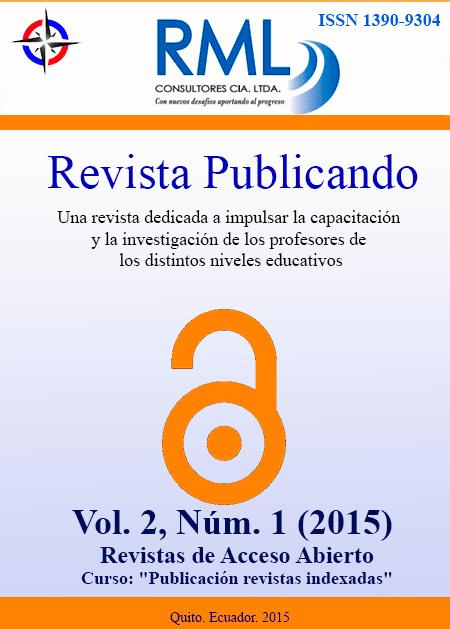 Revista Publicando. Vol2. No 1. 2015