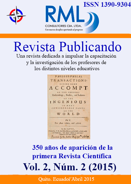 Revista Publicando. Vol2. No 2. 2015