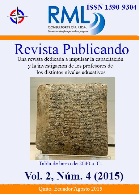 Revista Publicando Vol 2. No 4